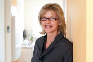 Das Bild zeigt die Leiterin Frau Huhsmann.
